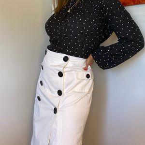 Burberry nautical pencil skirt size 8/it42